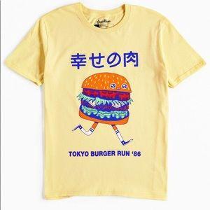 Pastel Yellow Burger Graphic Tee 🍔